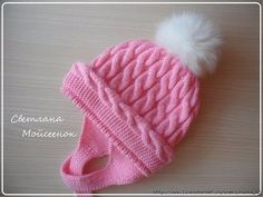 Diy Crafts - Pink hat for a girl crochet Baby Hats Knitting, Baby Knitting Patterns, Knitted Hats, Crochet Hats, Poncho Patterns, Crochet For Kids, Diy Crochet, Bonnet Rose, Baby Girl Patterns