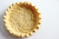 This coconut flour pie crust is gluten and grain free! You can use this recipe in place of a traditional crust in most pies.