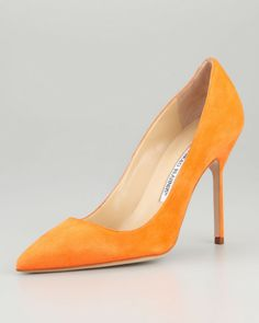 Bb Suede Highheel Pump Orange - Lyst