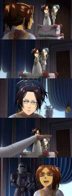Shingeki no Kyojin Attack on Titan SnK AoT - Hanji Zoe x Levi