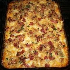 Macaroni And Cheese With Caramelized Onions And Bacon....um YES.