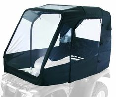 Product Features Constructed with UV resistant ProtekX fabric Dual inside roof pockets Features ultra-clear windows, zip close doors, roof pockets Doors can be