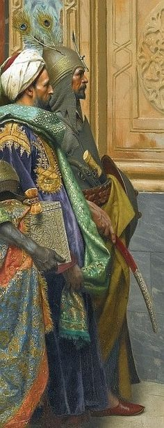 The offering (detail view), Ludwig Deutsch was an Austrian painter who settled in Paris. Deutsch came from a well-established Jewish family. His father was a financier at the Austrian court. Cenas Do Interior, Empire Ottoman, Arabian Art, Academic Art, Ludwig, Arabian Nights, Moorish, Renoir, Islamic Art