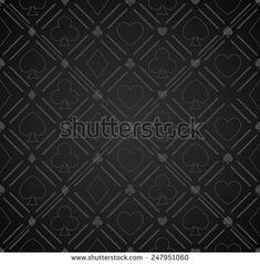 Seamless Abstract Poker Pattern Black