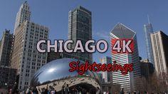 Ultra HD 4K Chicago USA Landmarks Iconic Sightseeing Popular Travel Location UHD Video Stock Footage