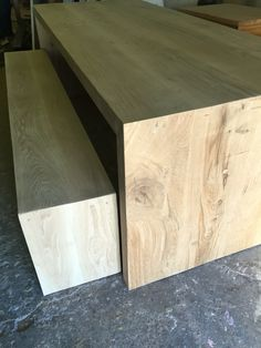 Waterfall: Our rustic oak named waterfall because grains runs down legs. Solid Wood Furniture, Recycled Wood, Rustic, Kitchen, Grains, Waterfall, Tables, Bench, Legs