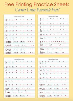 free printing practice sheets to help with letter reversals from homeschooling pinterest. Black Bedroom Furniture Sets. Home Design Ideas