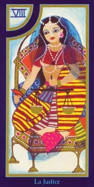 Justice from the Tarot du Roy Nissanka