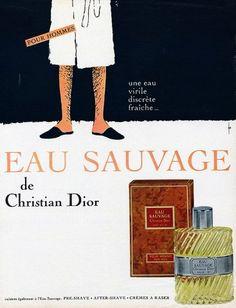 By René Gruau 1 9 6 7 Eau Sauvage Christian Dior (Perfumes).