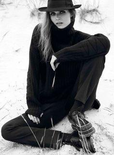 Shades of black #Vogue Paris September 2012 |photo claudia knoepfel & stefan indlekofer |styling capucine safyurtlu
