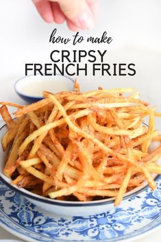 Sharing all my secrets for making the crispiest French fries right at home! There are a few tips you need to follow and you'll crispy, delicious fries every time! #frenchfry #frenchfries #frenchfryrecipe French Fries At Home, Best French Fries, Making French Fries, Oven Baked French Fries, French Fries Recipe, Homemade French Fries, Homemade Fries, Fun Easy Recipes, Fall Recipes