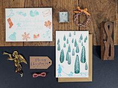 Have A Carissimo Christmas Letterpress Printing, Stationery Set, Grafik Design, Christmas Design, Holiday Cards, Gift Tags, Gallery Wall, Seasons, Art Prints
