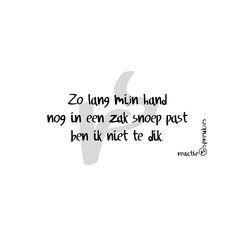 Zo lang mijn hand nog in een zak snoep past ben ik niet te dik #reactie…