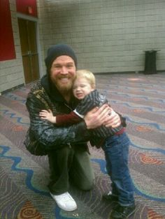 Ryan Hurst, our new friend :) They are big fans of each others!