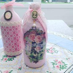 Shabby chic bottles ❤️