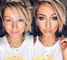 Nothing shows the magic of this makeup quite like a wake up to makeup 💋 ✨forever grateful for… Maskcara Beauty, Beauty Makeup, Hair Makeup, Hair Beauty, Makeup Tips, Wavy Haircuts, Short Bob Hairstyles, Trendy Hairstyles, Celebs Without Makeup