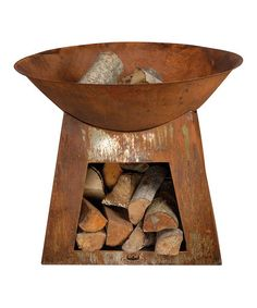 Another great find on #zulily! Wood Storage Fire Bowl #zulilyfinds