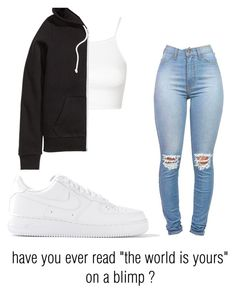 """."" by jouurdainn ❤ liked on Polyvore featuring Topshop, H&M and NIKE"