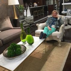 Well my workday is over and I stopped by @atlantadesigngroup to place an order and to show you clever #green #decor to get you into the mood for #stpatricksday . I went to @neimanmarcus to pick out a #motherofthegroom dress and take #dressingroomselfie . Which appears on my other IG @helloim50ish. ( I would bore you with #over50fashion on this profile). As I was leaving Neiman Marcus I ran into the talented @ansel0215 and he made my day. I can say this was a pretty good day…