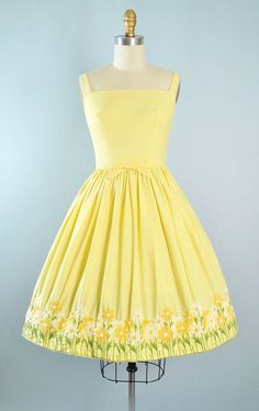 Vintage 60s LANZ Dress / 1950s Style YELLOW by GeronimoVintage