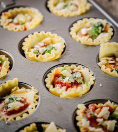 Mini Veggie Lasagna Cups   www.sweetteasweetie.com