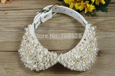 Aliexpress.com : Buy New Fashion Bling Rhinestones Pearl Pet Collars Small Dog Puppy Adjustable Leather Collars Necklace Accessories from Reliable necklace crystal suppliers on DogBaby | Alibaba Group