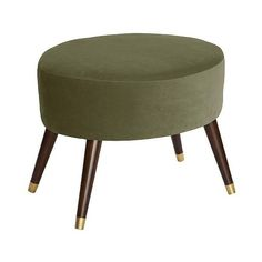Skyline Oval Ottoman, Green ($245) ❤ liked on Polyvore featuring home, furniture, ottomans, green, handcrafted furniture, modern home furniture, plaid furniture, modern ottoman and padded footstool