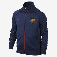 1bbfc852c Nike FC Barcelona Core Trainer Soccer Jacket (Blue)-YOUTH (Y-X-Small