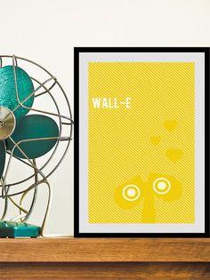 WallE movie poster Disney Pixar movie art 11x17 by ThePickleShop, $15.00