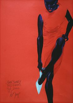 Eine Dame mit Straußen, picture from the series Drawings by Wolfgang Joop, LUMAS Artist ✓ African American Art, African Art, Wolfgang Joop, Fashion Art, Fashion Drawings, Fashion Illustrations, Vintage Illustrations, Fashion Story, Red Fashion