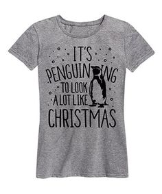 Look at this #zulilyfind! Athletic Heather 'Penguin-ing to Look' Relaxed-Fit Tee - Women