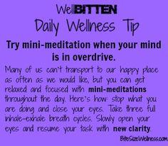 WellBitten Wellness Tip: Mini-Meditation