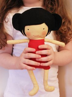 free doll patterns to sew   Doll Sewing Pattern Toy Cloth Doll Pattern PDF – Ruby & Mei