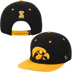 bee04643648 Top Of The World Iowa Hawkeyes Black Backswing Bucket Hat