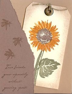 Sunflower Tag by Ocicat - Cards and Paper Crafts at Splitcoaststampers