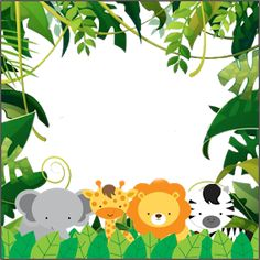 - Print it - Animales Party Animals, Jungle Animals, Animal Party, 1st Birthday Boy Themes, Jungle Theme Birthday, Animal Birthday, Jungle Theme Parties, Safari Theme Party, Jungle Party