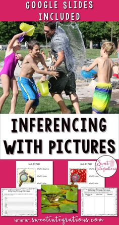 Inferencing with pictures is a great way to teach the concept of inferring. It helps students develop important skills needed in reading. (observing details, describing, and using prior knowledge); Google Slides included. Great download for your 3rd, 4th, and 5th grade classroom or homeschool students. #UpperElementary #Inference #Reading Comprehension Strategies, Reading Comprehension, 5th Grade Classroom, 21st Century Skills, School Subjects, Blended Learning, Book Study, Project Based Learning, Teacher Hacks