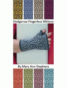 Hedgerow Fingerless Mittens | Two Strands