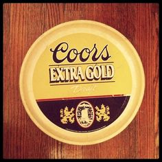 Vintage Coors Serving Tray @QueenCItyStudio #tray #beer #coors ***Research for possible future project.