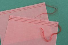 Colette Sewing Handbook: Gathering Stitches | Coletterie