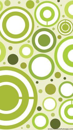 Fondo WhatsApp Círculos verdes