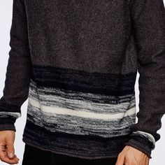 This brushed placement stripe jumper features rolled finishings. The wool mix yarn will keep you warm, while the neutral colours are easy to match to any outfit. Shop the Wixoe Jumper online here - https://www.bellfieldclothing.com/wixoe-jumper=product  #bellfieldclo #mensfashion #menswear #jumper #sweatshirt #wool #yarn