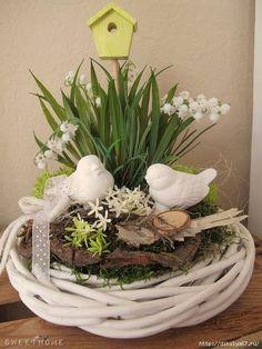 ♥ ~ ♥ Spring into Easter ♥ ~ ♥ Easter Flower Arrangements, Easter Flowers, Spring Flowers, Floral Arrangements, Easter Table, Easter Eggs, Deco Floral, Easter Wreaths, Spring Crafts