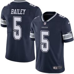 nike cowboys dan bailey navy blue team color mens stitched nfl vapor untouchable limited jersey and taco charlton 97 jersey