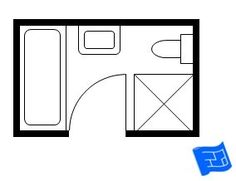Small bathroom floor plans this is the exact size of our for Bathroom remodel 5x9