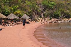 Now if you ever find yourself in western Tanzania, you should definitely swing by this beach. Its a little secluded cove with crystal clear water and red sand. It was beautiful and relaxing and gave me a real hillbilly place to wash my shirt from the bus ride the day before. Don't judge me!