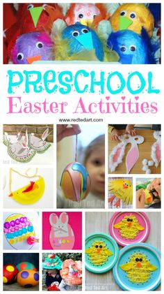 Preschool Easter Activities! A roundup of the best crafts for Easter or springtime- bunnies, chicks, birds, eggs- they are all here!