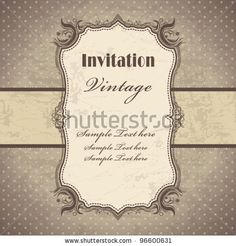 Vintage frame template (3) by Donnay Style, via ShutterStock