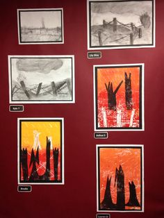WW1 inspired art Ww1 Art, Year 6, Cheryl, First World, Social Studies, Ww2, World War, Classroom Ideas, Poppies