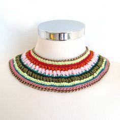 Maasai bib inspired necklace by kjoo
